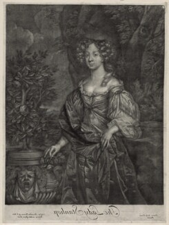 Elizabeth Lyon (née Stanhope), Countess of Strathmore, published by Alexander Browne, after  Sir Peter Lely - NPG D30556