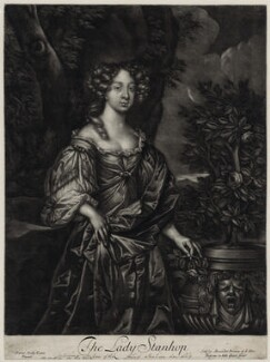 Elizabeth Lyon (née Stanhope), Countess of Strathmore, after Sir Peter Lely, published by  Alexander Browne - NPG D30557