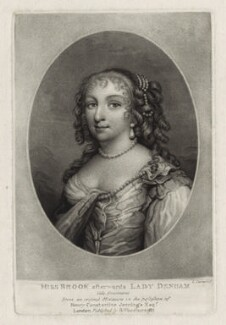 Margaret (née Brooke), Lady Denham, by Charles Turner, after  Unknown artist, published by  Samuel Woodburn - NPG D30561