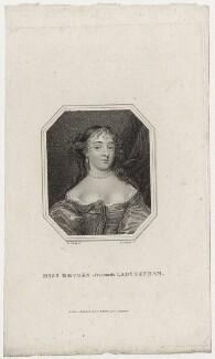 Margaret (née Brooke), Lady Denham, by Edward Scriven, after  Sir Peter Lely - NPG D30563