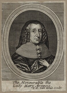 Mary Armine (née Talbot), Lady Armine, by Frederick Hendrik van Hove, after  Unknown artist, published 1683 - NPG D30567 - © National Portrait Gallery, London