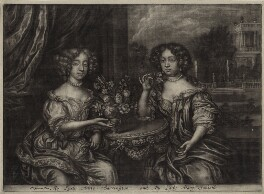 Lady Anne Barrington (née Rich) and Lady Mary St John (née Rich), after Henri Gascar - NPG D30569