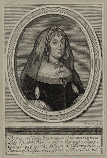 Elizabeth Roydon (née Thorowgood), Lady Roydon, by Robert White, after  Unknown artist - NPG D30572