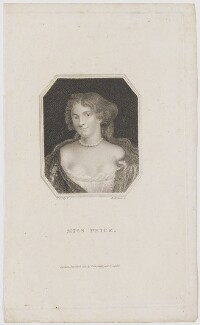 Lady Price, by Edward Scriven, after  Sir Peter Lely - NPG D30579