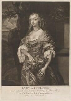 Jane Myddelton (née Needham), by James Macardell, after  Sir Peter Lely - NPG D30588