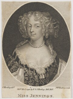 Frances Talbot (née Jenyns (Jennings)), Duchess of Tyrconnel (formerly Lady Hamilton), by Peltro William Tomkins, after  Silvester (Sylvester) Harding, after  Unknown artist - NPG D30593