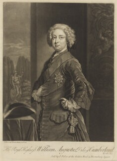 William Augustus, Duke of Cumberland, by and published by John Faber Jr, published circa mid 1730s - NPG D9210 - © National Portrait Gallery, London