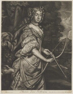 Jane Kelleway as Diana, published by Alexander Browne, after  Sir Peter Lely - NPG D30604