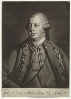 William Augustus, Duke of Cumberland, by Charles Spooner, published by  John Bowles, and published by  Carington Bowles, after  Sir Joshua Reynolds, circa 1758-1761 (1758) - NPG D32906 - © National Portrait Gallery, London