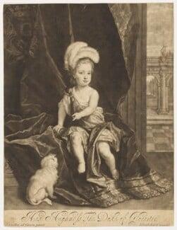 William, Duke of Gloucester, by John Smith, after  Sir Godfrey Kneller, Bt - NPG D9214
