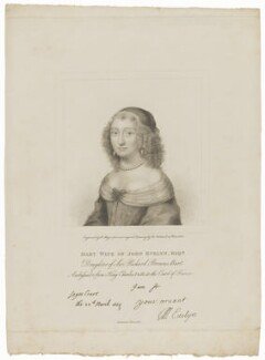 Mary Evelyn (née Browne), by Henry Meyer, after  Robert Nanteuil - NPG D30610