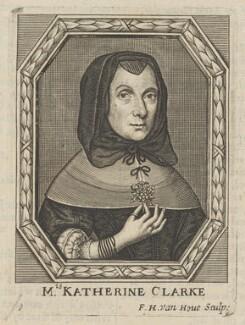 Catherine Clarke (née Overton), by Frederick Hendrik van Hove - NPG D30616