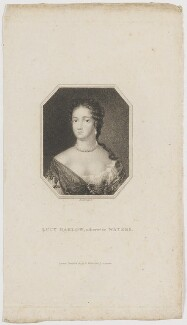 Lucy Walter, by Edward Scriven, after  Nicholas Dixon - NPG D30618