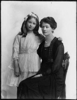 Hon. Judith Horatia Maud Messel (née Birdwood); Janetta Hope Gonville (née Bromhead), Lady Birdwood, by Bassano Ltd - NPG x154327