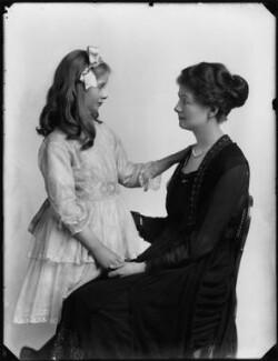 Hon. Judith Horatia Maud Messel (née Birdwood); Janetta Hope Gonville (née Bromhead), Lady Birdwood, by Bassano Ltd - NPG x154328
