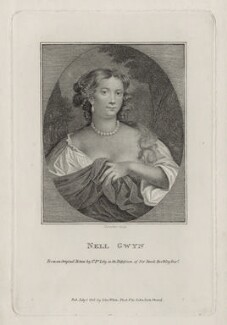Eleanor ('Nell') Gwyn, by Schenecker, published by  John White, published by  John Scott, after  Sir Peter Lely, published 1 July 1808 - NPG D30622 - © National Portrait Gallery, London