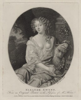 Nell Gwyn, by John Ogborne, published by  Anthony Molteno, after  Sir Peter Lely - NPG D30624