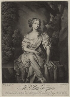 Nell Gwyn, by Peter van Bleeck, after  Sir Peter Lely - NPG D30627