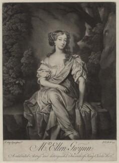 Nell Gwyn, by Peter van Bleeck, after  Sir Peter Lely - NPG D30627