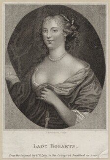 Jane Robarts, by Francesco Bartolozzi, after  Sir Peter Lely, published by  E. & S. Harding - NPG D30629