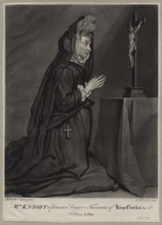 Mary Knight, by John Faber Jr, after  Sir Godfrey Kneller, Bt - NPG D30630
