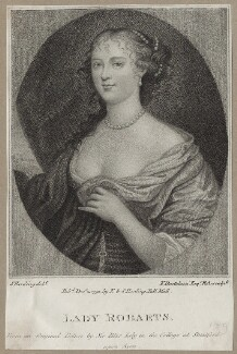 Jane Robarts, by Francesco Bartolozzi, after  Sir Peter Lely, published by  E. & S. Harding - NPG D30631