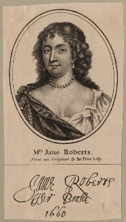 Jane Robarts, after Sir Peter Lely, published by  John Thane - NPG D30632