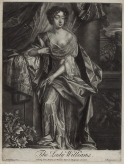 Lady Williams, by Isaac Beckett, after  Willem Wissing, sold by  John Bowles - NPG D30636