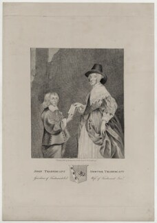 Hester Tradescant (née Pooks) and her step-son John Tradescant, published by Thomas Rodd the Younger, published by  Horatio Rodd - NPG D30637
