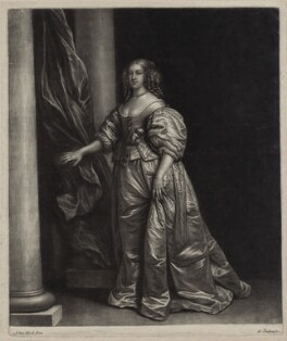 Mrs Vaillant, by Wallerant Vaillant, after  Sir Anthony van Dyck - NPG D30642
