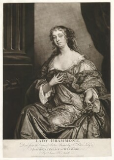 Elizabeth Hamilton, Countess de Gramont, by James Macardell, after  Sir Peter Lely - NPG D30645