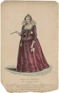 Anne of Denmark, by Edward Hargrave, after  Cornelius Johnson (Cornelius Janssen van Ceulen) - NPG D32918