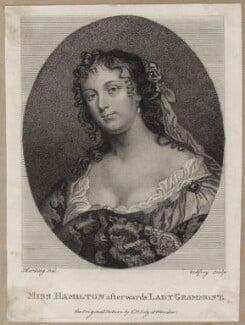 Elizabeth Hamilton, Countess de Gramont, after Sir Peter Lely - NPG D30648
