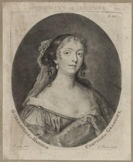 Elizabeth Hamilton, Countess de Gramont, by George Powle, after  Sir Peter Lely - NPG D30649