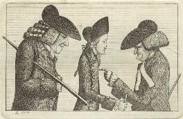 Henry Home, Lord Kames; Hugo Arnot; James Burnett, Lord Monboddo, by John Kay - NPG D32361