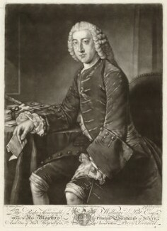 William Pitt, 1st Earl of Chatham, by Jonathan Spilsbury, after  William Hoare, (circa 1754) - NPG D32919 - © National Portrait Gallery, London