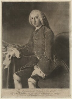 William Pitt, 1st Earl of Chatham, by Richard Houston, after  William Hoare - NPG D32922