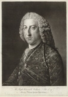William Pitt, 1st Earl of Chatham, by Richard Houston, after  William Hoare - NPG D32925