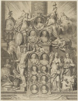 King George I and the line of succession, by John Sebastian Miller (formerly Johann Sebastian Müller), after  Samuel Wale - NPG D32912