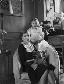 Victoria Ruth Mary Rosamund Vivian (née Oliphant), Lady Vivian; Hon. Sally Anne Marie Gabrielle Wilson (née Vivian), by Bassano Ltd - NPG x153216