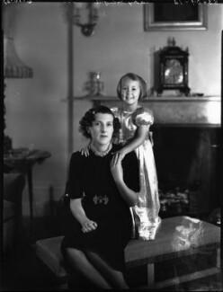 Elizabeth ('Betty') Sarah Polk (née Shaughnessy), Lady Grenfell; Hon. Caroline Sarah Aline Mieczkovski (née Grenfell);, by Bassano Ltd - NPG x153229