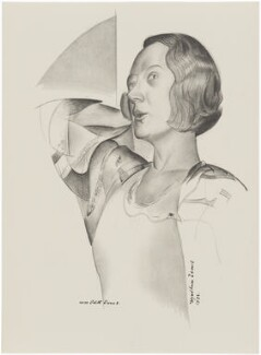 Dame Edith Evans (Dame Edith Mary Booth), after Wyndham Lewis - NPG D32941