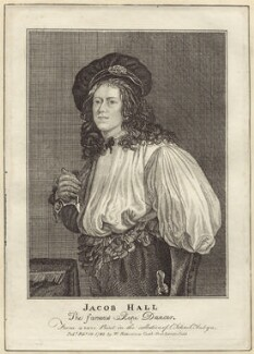 Jacob Hall, after Jakob ('Jacob') van Oost the Younger, published by  William Richardson - NPG D30691