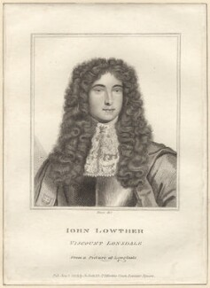John Lowther, 1st Viscount Lonsdale, by Rivers, after  Unknown artist - NPG D30710
