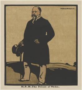 King Edward VII, published by William Heinemann, after  Sir William Newzam Prior Nicholson, published 1899 - NPG D32963 - © Desmond Banks