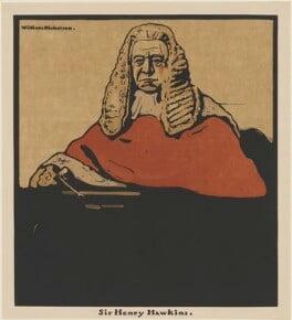 Henry Hawkins, Baron Brampton, published by William Heinemann, after  William Nicholson - NPG D32969
