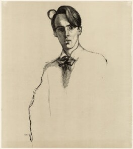 W.B. Yeats, by Sir William Rothenstein, published 1899 (1898) - NPG D32980 - © National Portrait Gallery, London