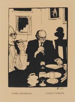 Daniel de Mendi Macmillan; Stanley Arthur Morison, by Robert Lutyens - NPG D32982