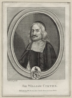 Sir William Curtius, 1st Bt, after M. Rosa, published by  William Richardson - NPG D30741