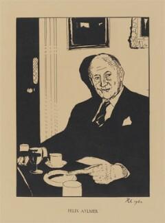 Sir Felix Edward Aylmer, by Robert Lutyens, published 1962 (1961) - NPG D32986 - © Candia Lutyens Peterson / National Portrait Gallery, London